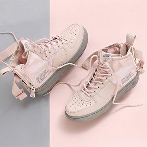 Nike Blush Pink SF AF1 Mid Sneakers